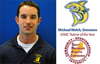 Michael Welch '08 Named 2016 GNAC Athletic Trainer of the Year